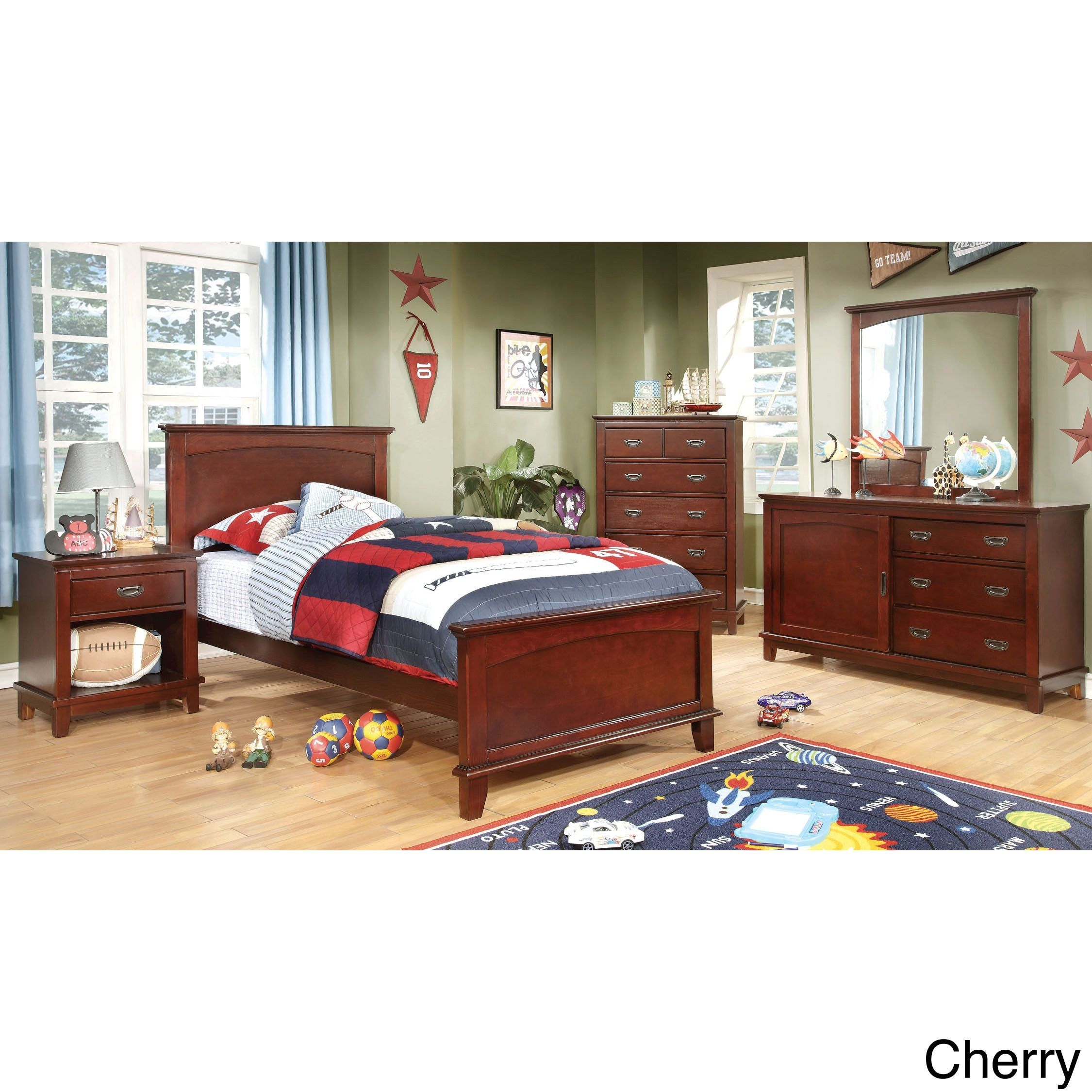 Furniture of America Kennedy 4-piece Platform Youth Bedroom Set (
