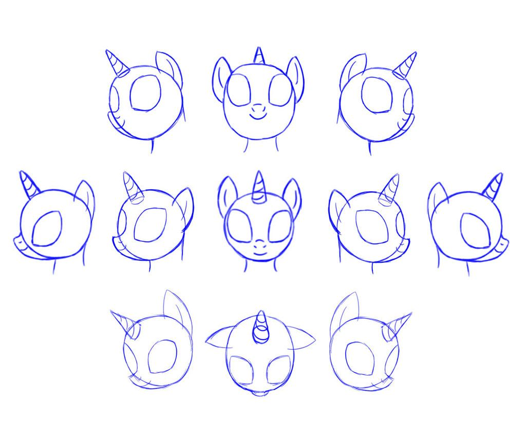 How to draw pony of may little pony