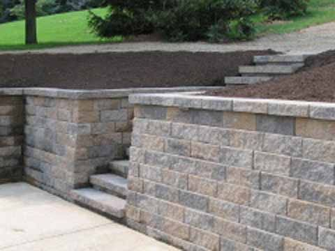 Versa Lok Standard Allegheny Blend Retaining Wall Backyard Landscaping Designs Backyard Makeover Backyard