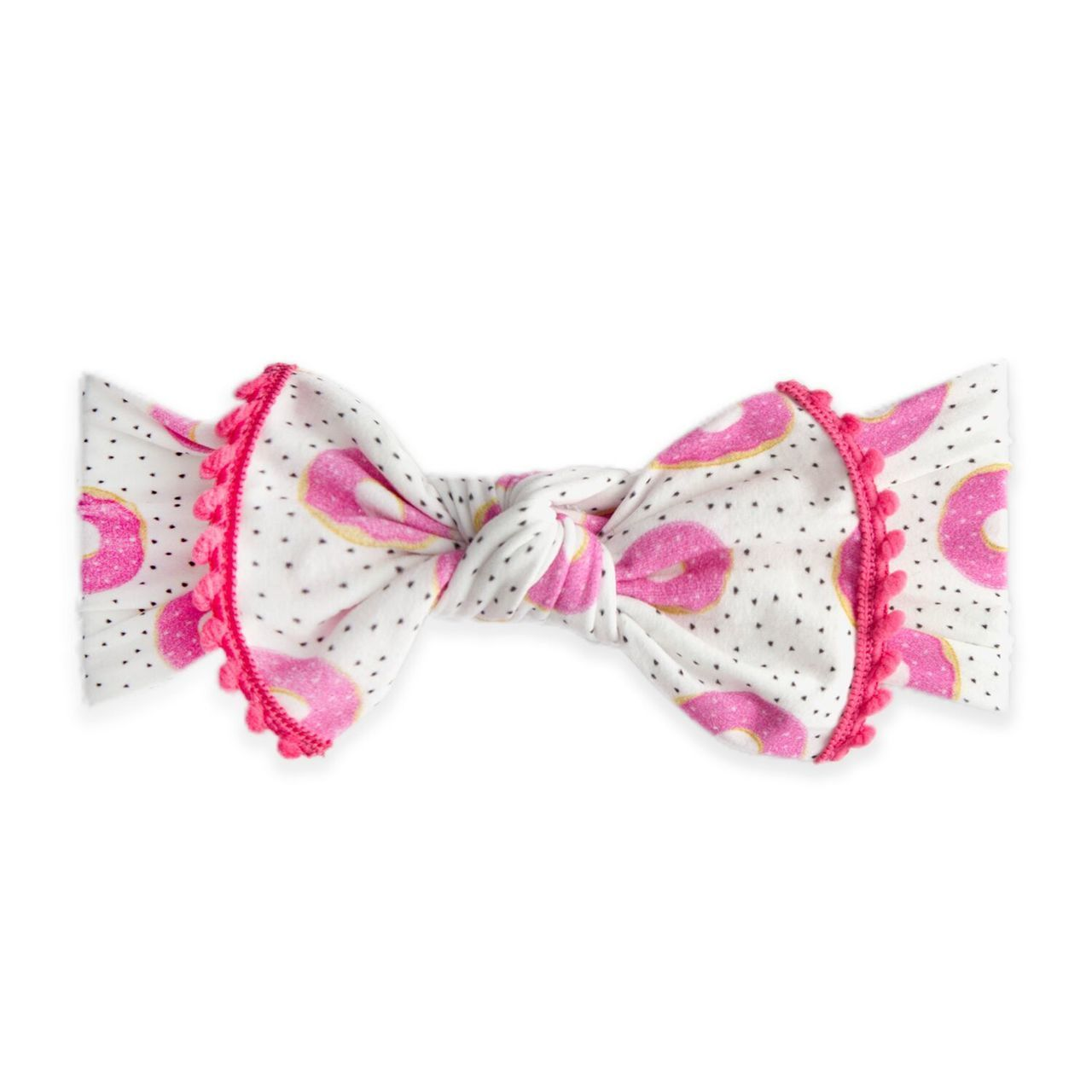 Trimmed Knot Bow Donuts Spearmint Ventures Llc Baby Bling Baby Bling Bows Bows