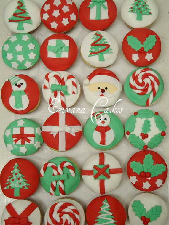 Simple And Creative Christmas Themed Cupcake Designs And Decorating