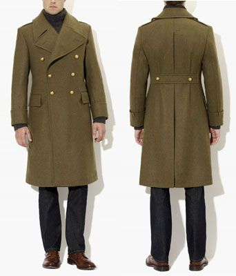British Army Green Authentic Great Coat by Crombie