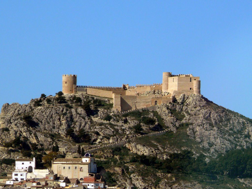 CASTLES OF SPAIN - Castalla Castle, Alicante (Islamic origin, XI century). James I of Aragon took the castle from the Moors  (1244). During the War of Independence two major military actions took place in Castalla. The First Battle of Castalla, which took place on 21 July 1812, was a major defeat for the Spanish army at the hands of the Napoleonic troops. However, the better-known Second Battle of Castalla on 13 April 1813 was a Spanish triumph over Marshal Suchet's French army.