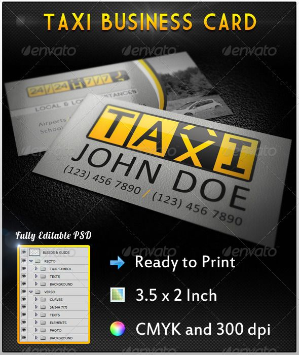 Taxi business card reheart Gallery