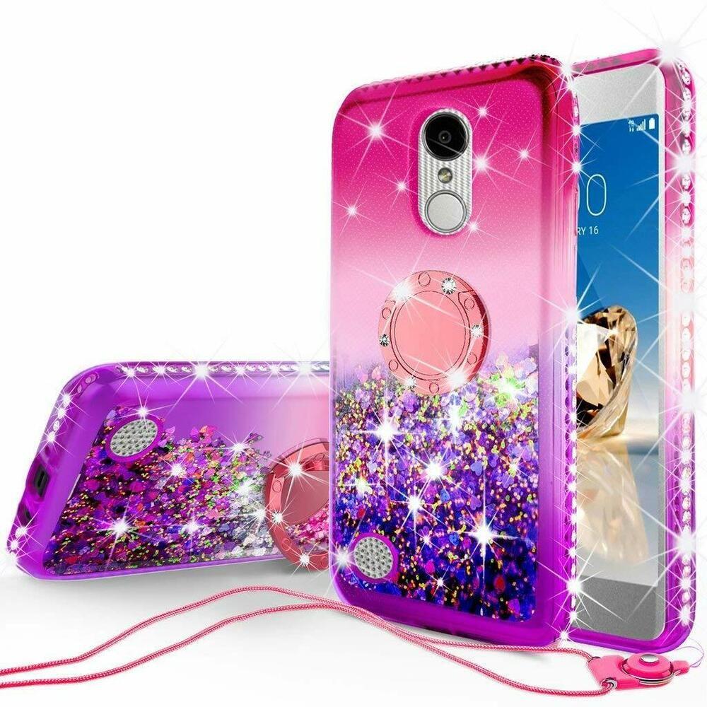 LG Fortune Diamond Glitter Ring Liquid TPU Gem Phone Case w