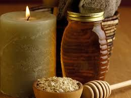 Natural home made face scrub using oatmeal, almonds, honey and milk:  1. Take ½ bowl of powdered oatmeal. 2. Add 6-7 crushed almonds. 3. Add 2 tbsp honey. 4. Add some milk to make a paste. 5. Mix well. 6. Apply this on the face. 7. Massage gently for 2 min. 8. Wash off with warm water.