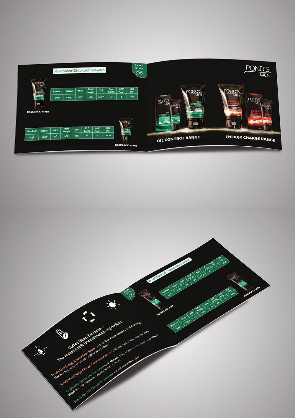 Ponds Men Booklet Menu Card Pinterest