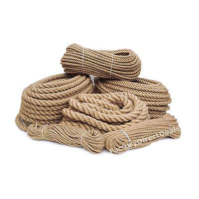 Details about 100% Pure Natural Hessian Jute Rope Cord Twine