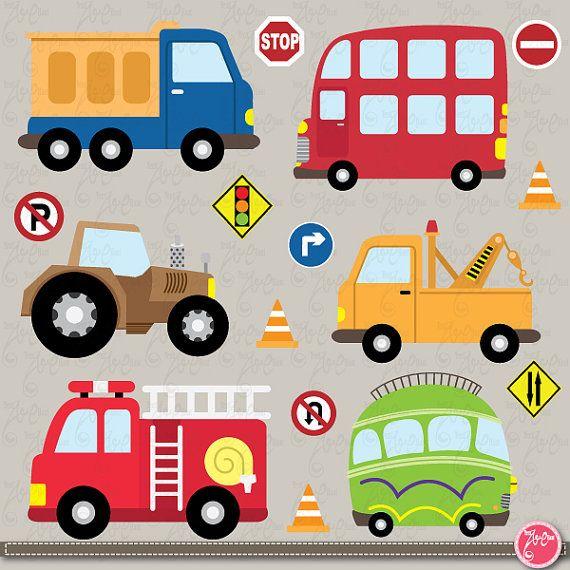 transportation clip art cute vehicles transport set