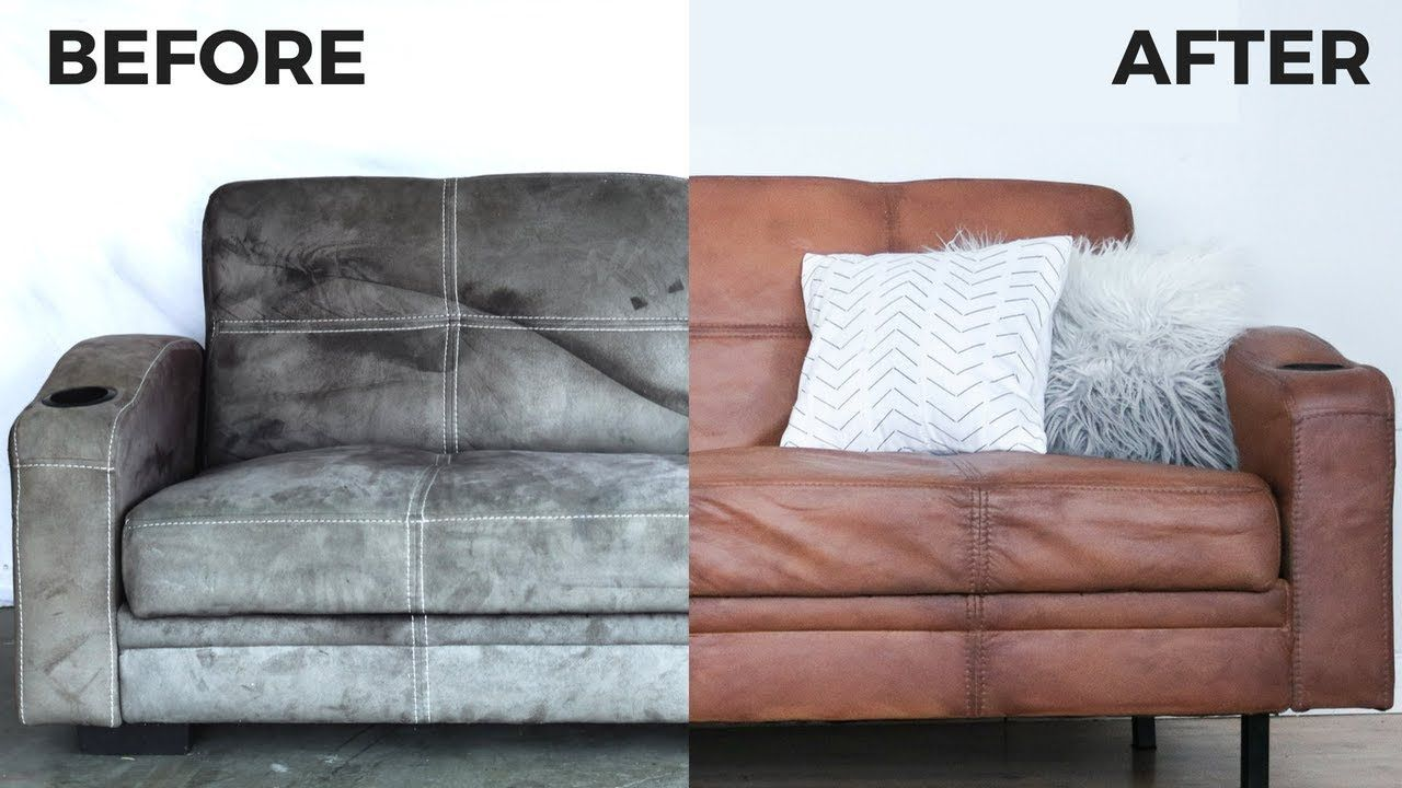 Diy Leather Couch How To Paint On Microfiber Secret Fabric Paint Reci Paint Leather Couch Leather Couch White Leather Sofas