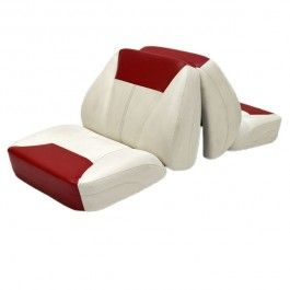 Custom White Red Vinyl Marine Boat Back To Back Lounge Seat Chair No Base Lounge Seating Boat Seats Seating