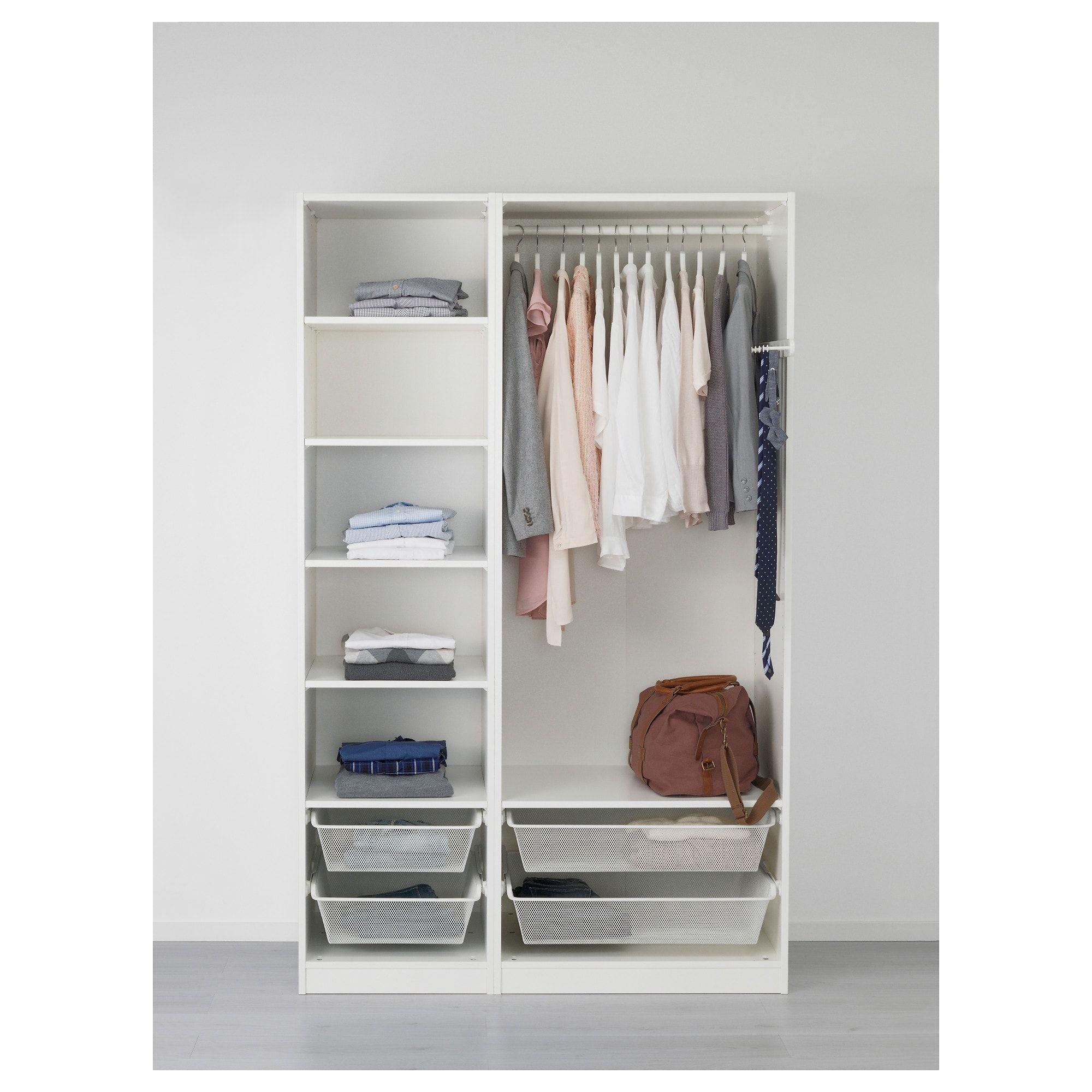PAX Wardrobe white, Ballstad Vikedal 49 1/4x23 5/8x79 1