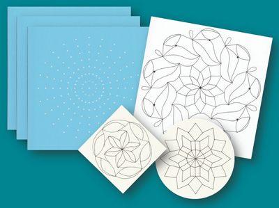Mylar Mandala Dot Templates - Set of 3 different degrees