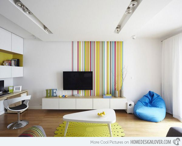 The Vibrant Colors of the Interior of the Apartment in Warsaw, Poland