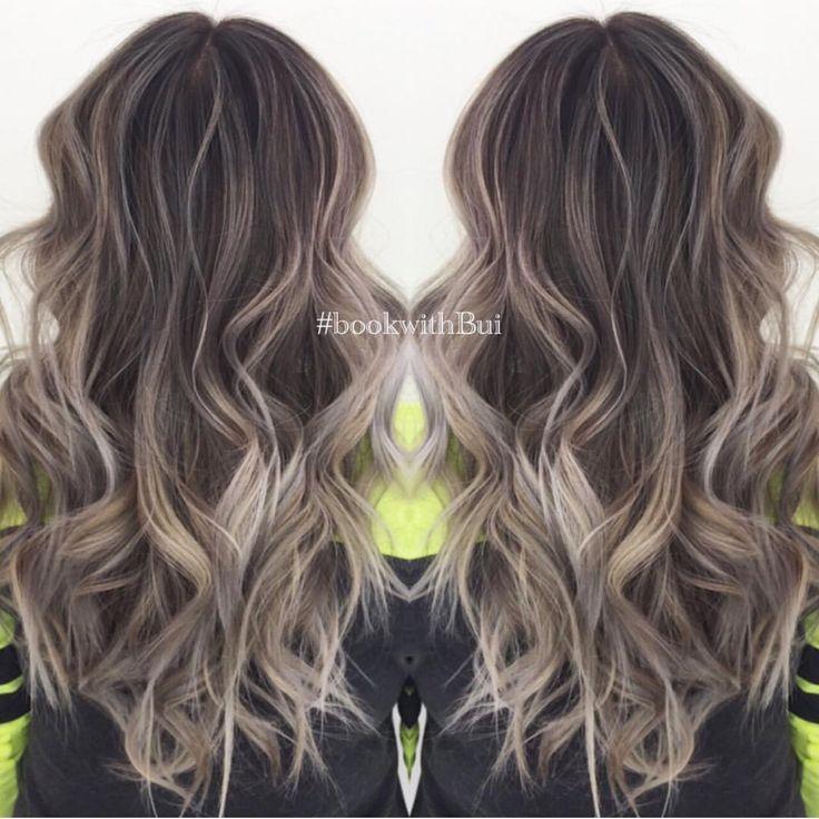 Ash Blonde Balayage On Dark Hair Google Search Hair Hair