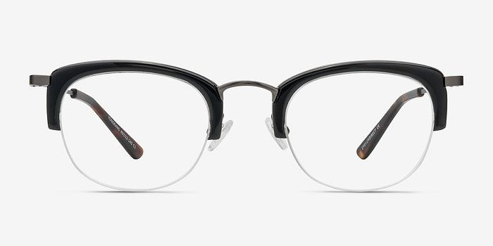 Yongkang Black Acetate Eyeglasses from EyeBuyDirect. Come and discover these quality glasses at an affordable price. Find your style now with this frame. https://www.eyebuydirect.com/prescription-glasses/semi-rimless-glasses-yongkang-black-p-18559