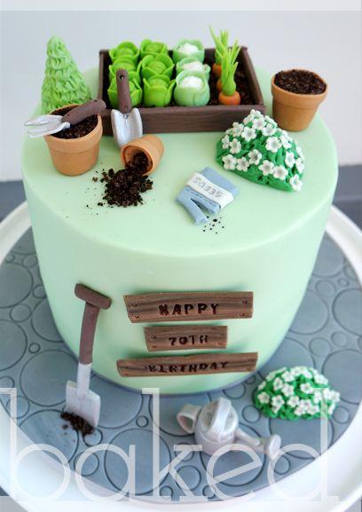 Gardening Cake   90th birthday cakes