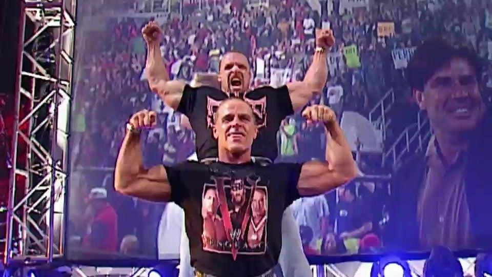 WWE Hall of Fame legend Shawn Michaels and legendary WWE