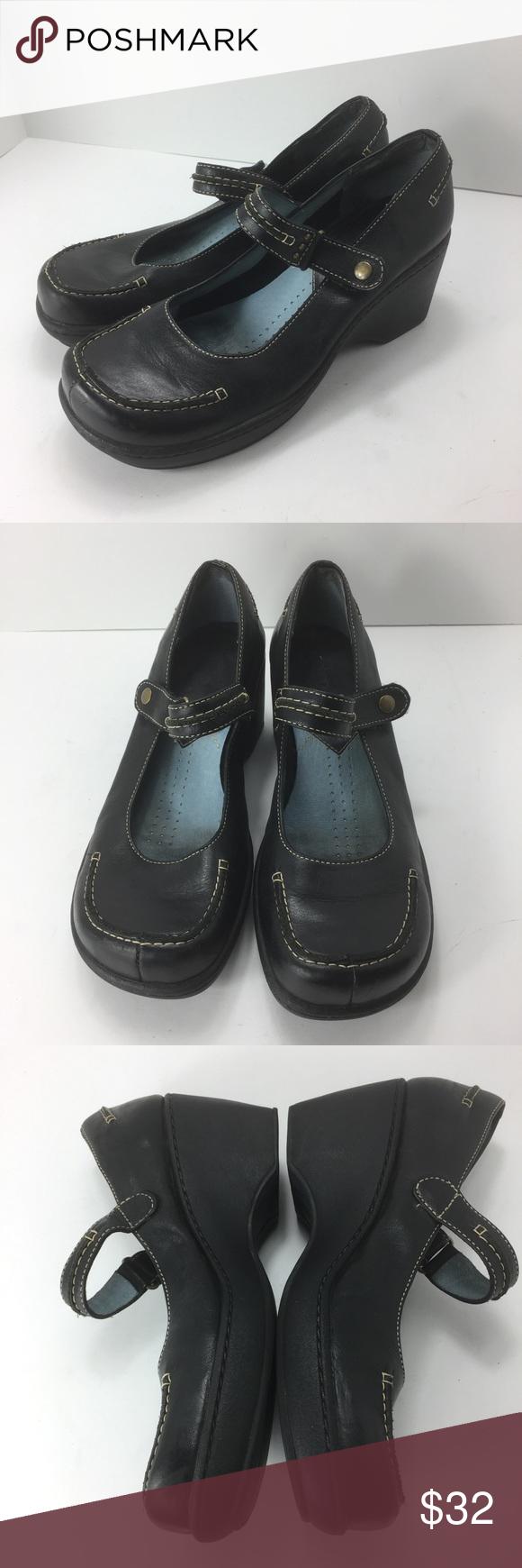 Indigo By Clarks Leather Mary Jane Shoes 7 1/2 M Indigo By Clarks Womens