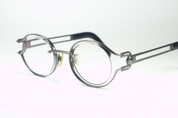 a6c1c74dd Yohji Yamamoto vintage 80s gunmetal by GreenFlamingoVintage Cool Glasses,  Eye Glasses, Glasses Frames,