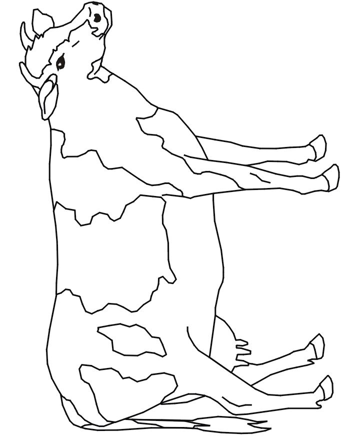 Bilde Fra Http Picturesforcoloring Com Wp Content Uploads 2012 05 Cow Coloring Pages 05 Gif Cow Coloring Pages Farm Animal Coloring Pages Cow Drawing