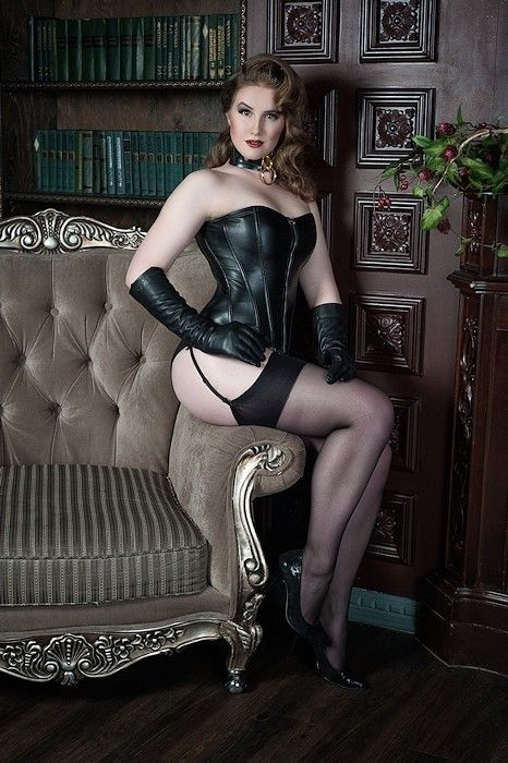 Belt fetish nylon stocking suspender