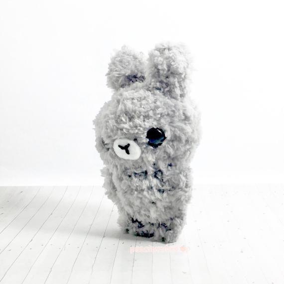 Grey Bunny Plush - Cute Keychain - Kawaii Plush - Stuffed Bunny Toy - Mini Bunny - Amigurumi Bunny -