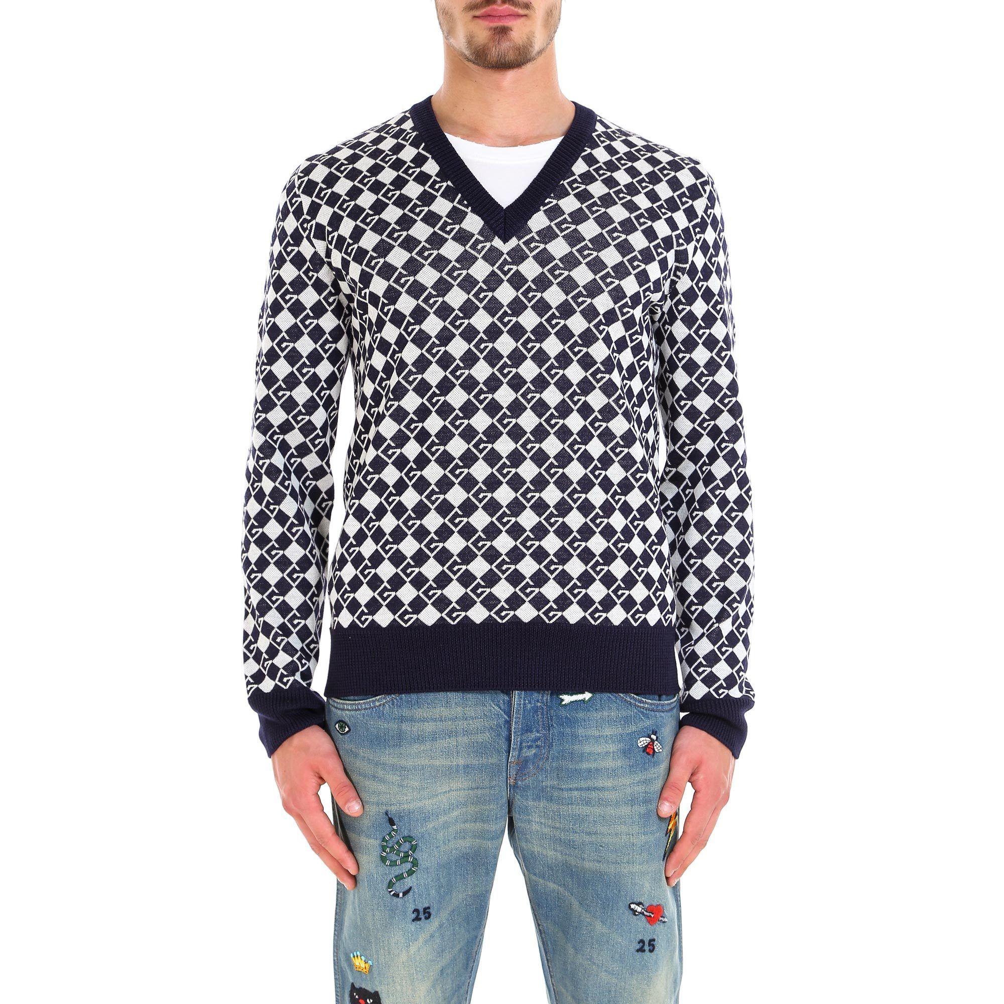 3ecdeb8df GUCCI GUCCI CHECK V NECK JUMPER. #gucci #cloth | Gucci | Gucci ...