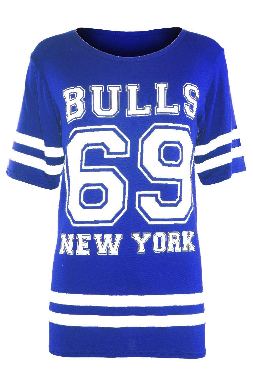 529cdb78afec0 Womens Baggy T Shirt Ladies USA American Varsity Oversized Top Plus Size 8 -24 Ladies USA Shirt