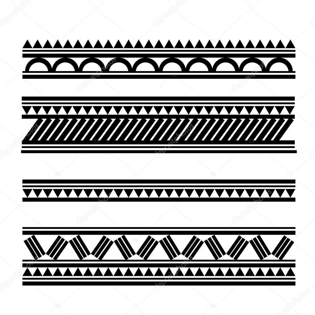 Polynesian Style Tattoo Bracelet Mdash Stock Vector 169 Bigfatnapoleon Armband Tattoos Samoanische Tattoos Tatowierungen