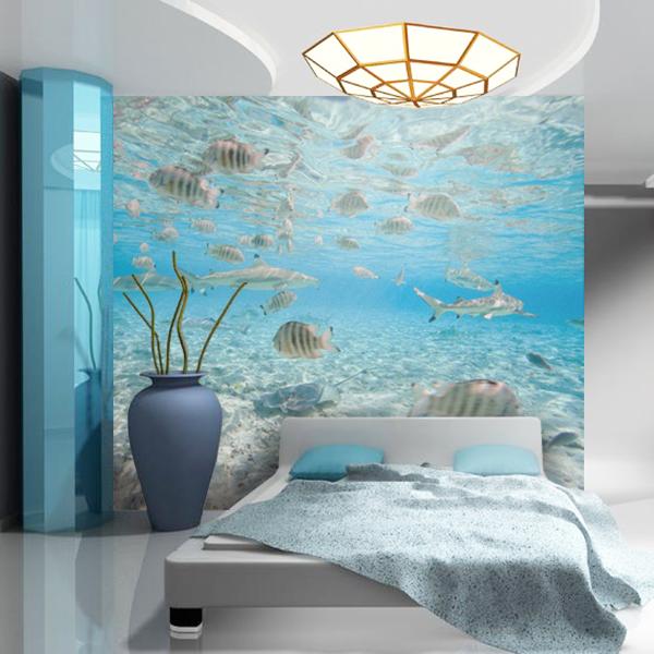 Qu tal una habitaci n con vistas al fondo del mar http for Fotomurales y vinilos