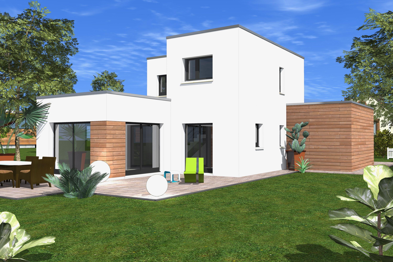 La maison contempory 01 est une maison ultra moderne sur deux étages et avec toit plat la maison a une surface habitable de 92 m²