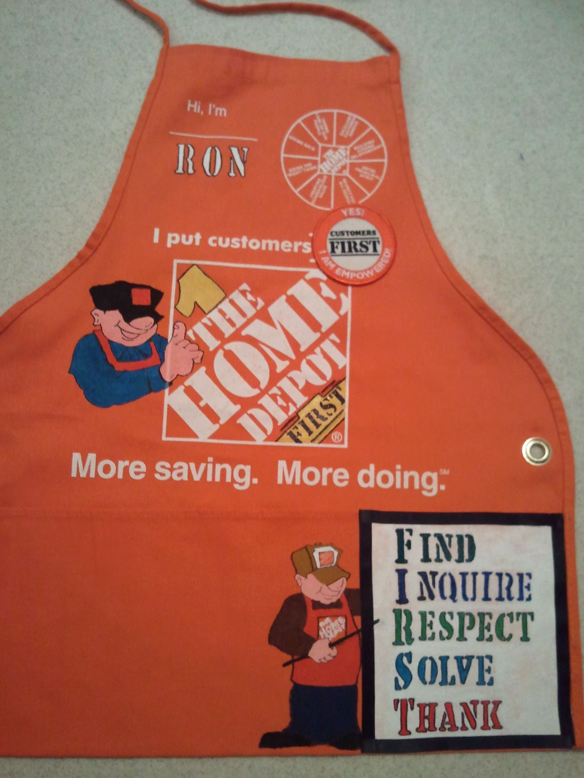 Lil Ron Ron Christmas.Lil Ron 07262011 Home Depot Aprons Home Depot Apron