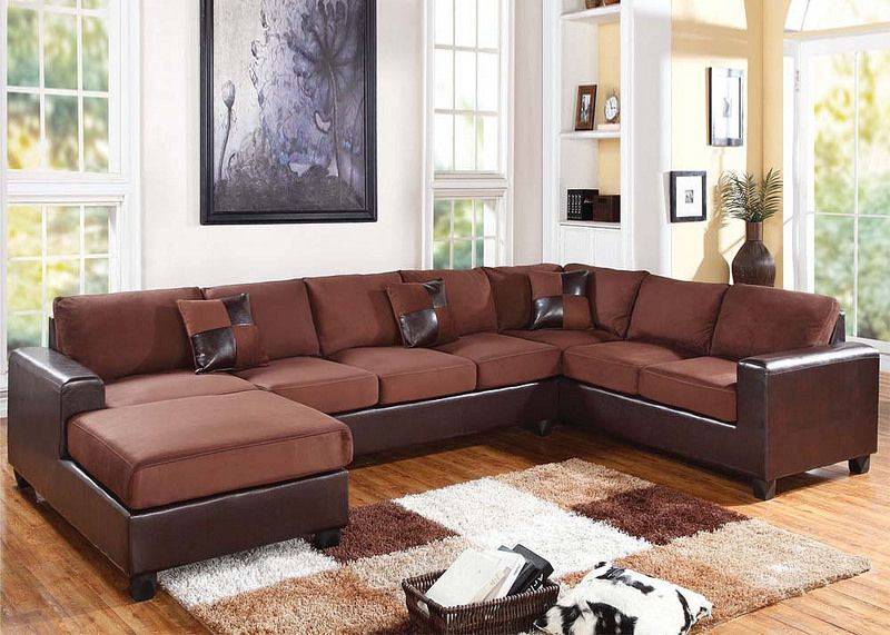 Admirable 56000 Dannis Chocolate Reversible Sectional Sofa Sectional Pdpeps Interior Chair Design Pdpepsorg