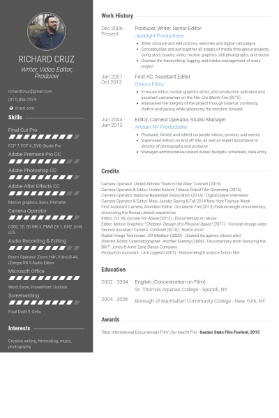 23 Perfect Video Editor Resume Sample on Tips Resume