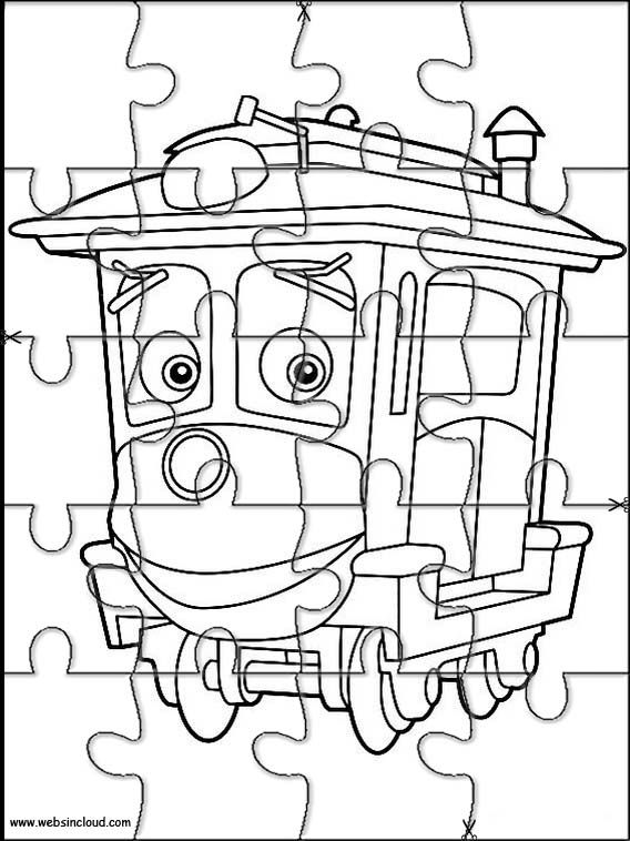 Printable jigsaw puzzles to cut out for kids Chuggington 16 Coloring ...