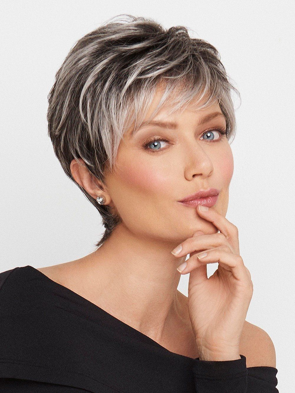 Crushing on casual synthetic lace front wig mono top short