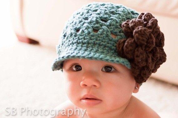 Crochet PATTERN Chloe Newsboy with Rose 5 Crochet Newsboy Hat ...