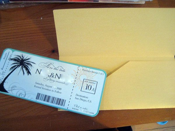Mrs Hot WingS Boarding Pass Save The Date Wedding Invitation Diy