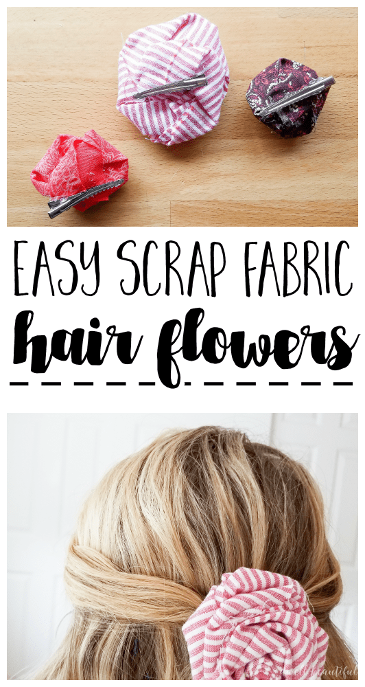 How to Make Easy Scrap Fabric Flowers to Put On Just About Anything #scrapfabric