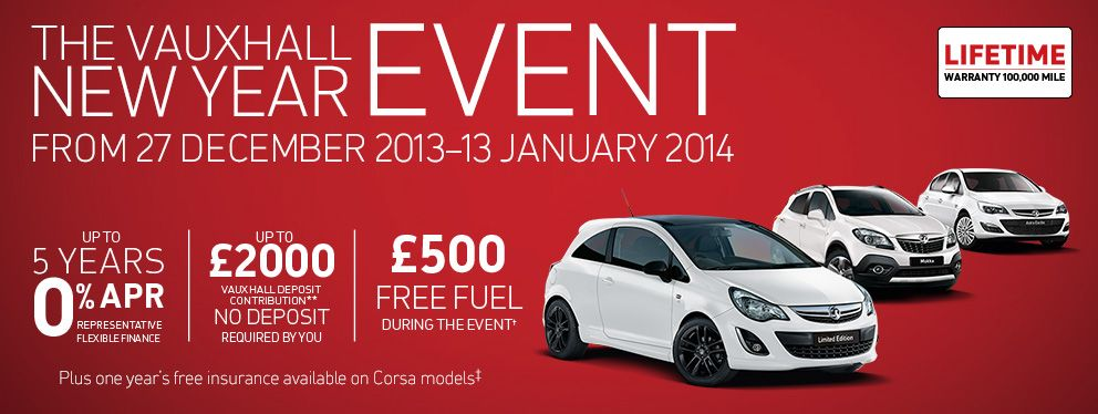 vauxhall offering £500 free fuel before 16th Jan in
