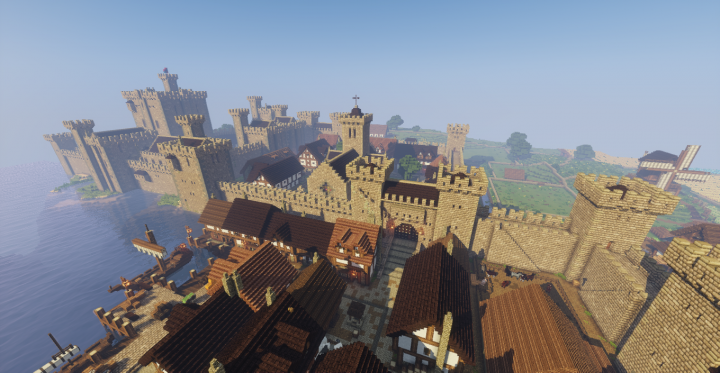 Medieval Castle And Town  With Images