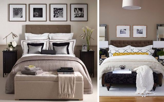 Un banco a pie de cama para la decoración de dormitorios ...