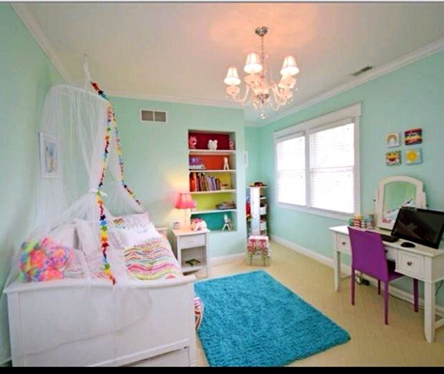 Rainbow Themed Room: Rainbow, Unicorn Girls Bedroom