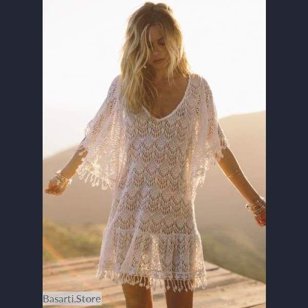 Summer Breeze - Crochet Slip on cover up - Beach Wear #crochetbeachdress