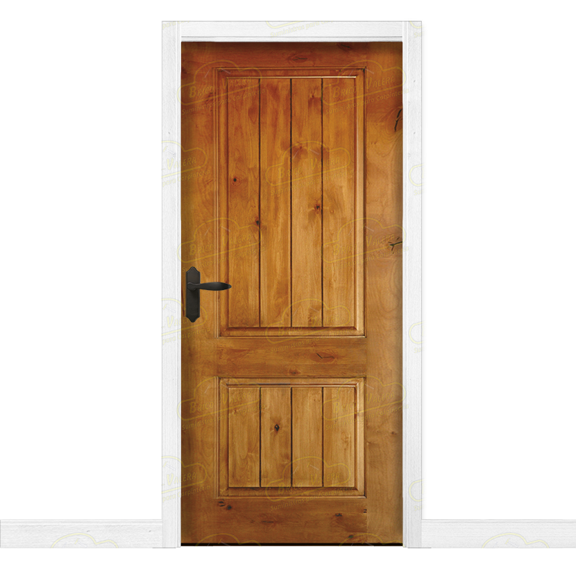 Puerta interior r stica en madera maciza de pino modelo pm for Puertas principales de madera rusticas