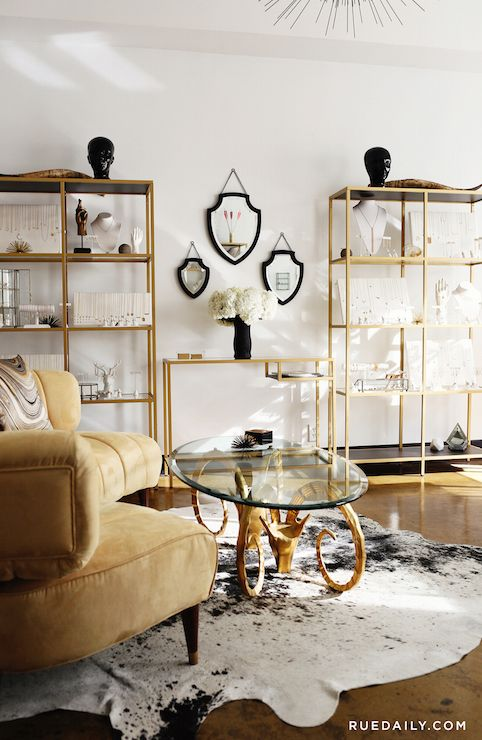 Ikea VITTSJÖ Shelving Unit, Hollywood Regency, Living Room