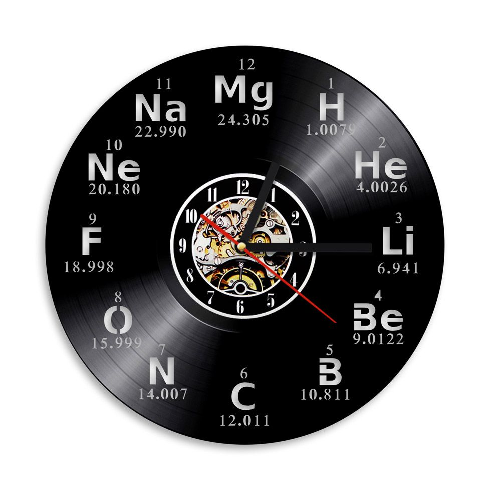 Chemical Symbols Elements Periodic Wall Clock 12 in Novelty Decor Teachers Gift