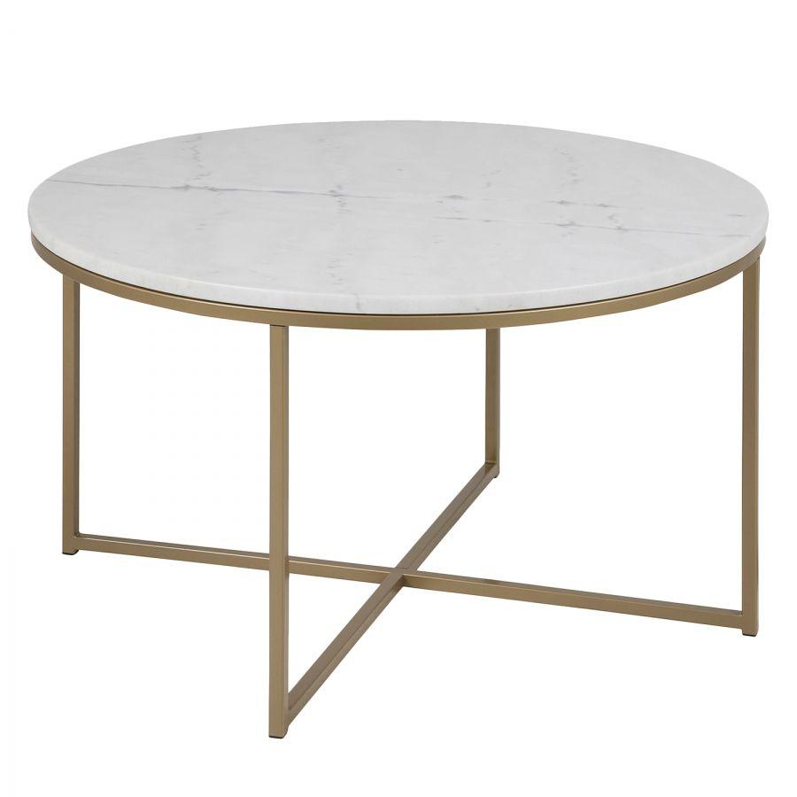 couchtisch mooka marmor metall wei messing in. Black Bedroom Furniture Sets. Home Design Ideas