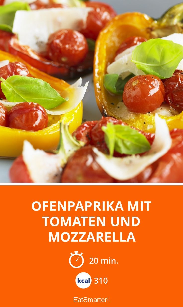 Ofenpaprika Mit Tomaten Und Mozzarella Yemek Tarifi Low Carb